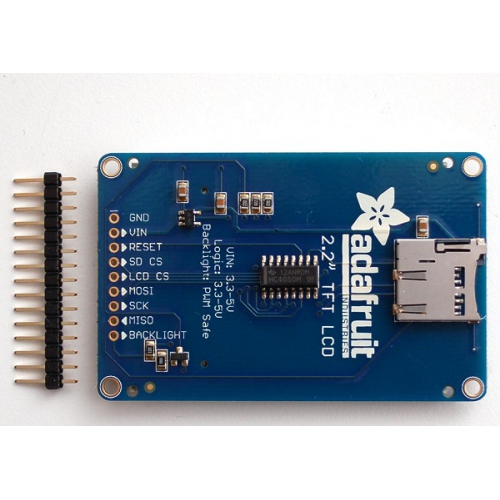 2 2in 18-bit colour TFT LCD display with microSD card breakout