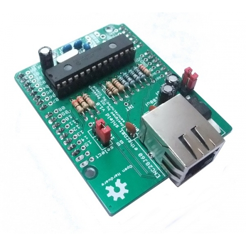 My Arduino with ENC28J60 - A wiring example