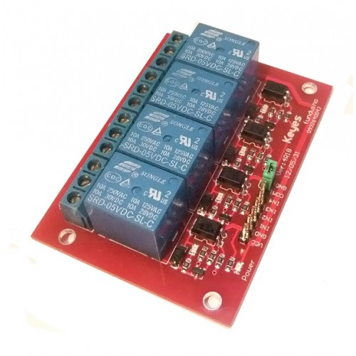 Channel V Relay Module X on Single Pole Double Throw Relay
