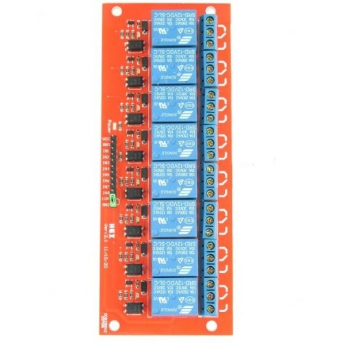 8 Channel 5v Relay Module With Opto Isolated Inputs