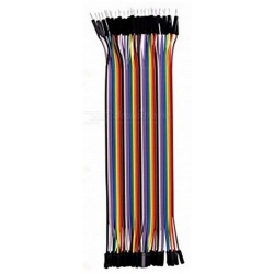 HobbyTronics Ribbon Cable Jumper Wires Male-Female 40 (20cm)