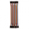 Ribbon Cable Jumper Wires Male 40 (20cm)