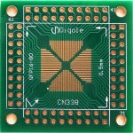QFP/TQFP/PQFP/LQFP 0.65mm/0.5mm SMD to DIP Adapter