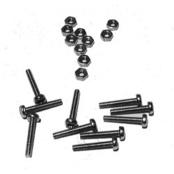 HobbyTronics Nuts and Bolts M2 x 12 (pack 10)