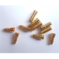 Gold Plated 3.5mm Bullet Connectors (5 pairs)