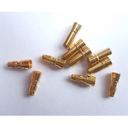 HobbyTronics Gold Plated 3.5mm Bullet Connectors (5 pairs)