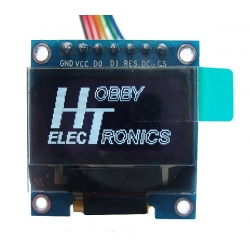 HobbyTronics OLED Graphic Display 128x64 White on Black 0.96in