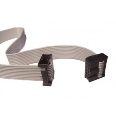 10-Conductor Ribbon Cable with IDC Connectors - 12 inch