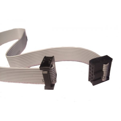 Ribbon Connector 10 : Conductor ribbon cable with idc connectors inch
