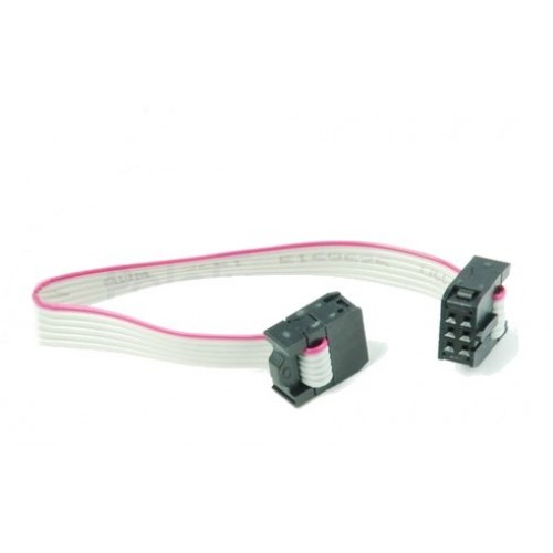 Ribbon Cable Socket : Conductor ribbon cable with idc connectors inch