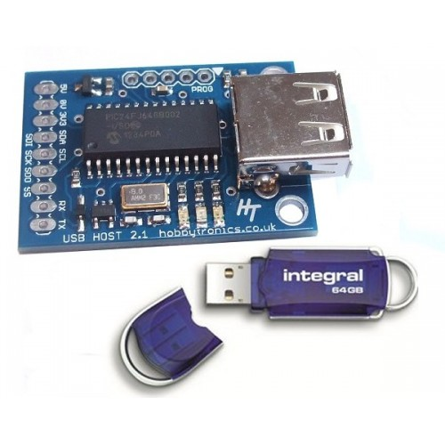 USB Flash Drive Reader/Writer | USBHOST-FLASH | HobbyTronics