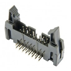 IDC Right angled latched PCB header 2x8 pin