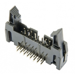 HobbyTronics IDC Right angled latched PCB header 2x8 pin