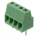 """Screw Terminals 0.1"""" (2.54mm) Pitch (4-Pin)"""