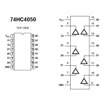 74HC4050 Hex Non-Inverting Buffer (SOIC)