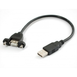 Panel Mount USB Cable - A Male to A Female