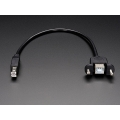 Panel Mount USB Cable - B Male to B Female