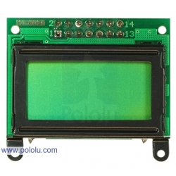 Pololu 8x2 Character LCD - Black Bezel (Parallel Interface)