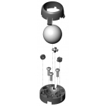 Pololu Ball Caster with 1 inch Plastic Ball and Rollers