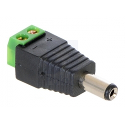 Pololu DC Barrel Plug to 2-Pin Terminal Block Adapter