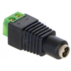 DC Barrel Plug to 2-Pin Terminal Block Adapter - Female