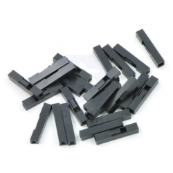 Pololu Crimp Connector Housing: 0.1 inch pitch 1-Pin 25-Pack