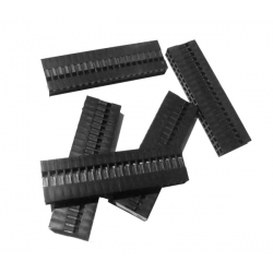 Pololu Crimp Connector Housing: 0.1 inch pitch 2x20-Pin 5-Pack