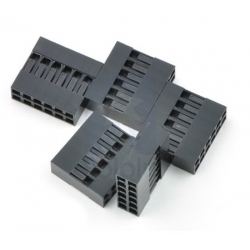 Pololu Crimp Connector Housing: 0.1 inch pitch 2x6-Pin 5-Pack