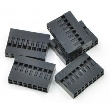 Crimp Connector Housing: 0.1 inch pitch 2x8-Pin 5-Pack