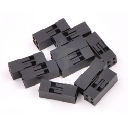 Pololu Crimp Connector Housing: 0.1 inch pitch 2x2-Pin 10-Pack