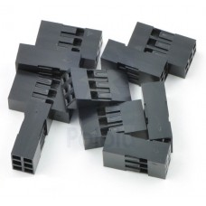 Crimp Connector Housing: 0.1 inch pitch 2x3-Pin 10-Pack