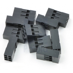 Pololu Crimp Connector Housing: 0.1 inch pitch 2x3-Pin 10-Pack