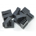 Crimp Connector Housing: 0.1 inch pitch 2x4-Pin 10-Pack