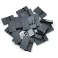 Crimp Connector Housing: 0.1 inch pitch 1x3-Pin 25-Pack