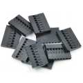Crimp Connector Housing: 0.1 inch pitch 1x8-Pin 10-Pack