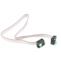 6-Conductor Ribbon Cable with IDC Connectors 12 inch