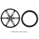 Pololu Wheel 80x10mm Pair - Black