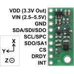 LIS3MDL 3-Axis Magnetometer with Voltage Regulator