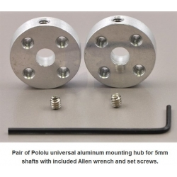 Pololu Universal Aluminum Mounting Hub for 5mm Shaft Pair
