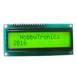 16x2 LCD Display Yellow/green LED Backlight