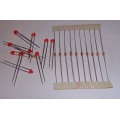 1.8mm Red LED / resistor combo (pack 10)