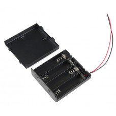 Enclosed Battery Box 4x AA with Switch