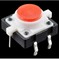 SparkFun LED Tactile Button - Red