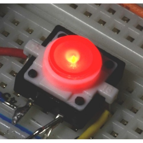 Red LED Tactile Button