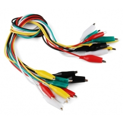SparkFun Alligator Test Leads - Multicolored 10 Pack