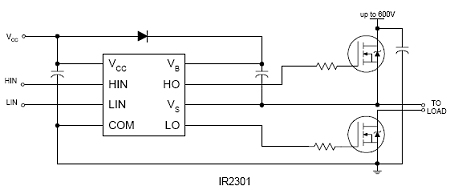 Ir2301 High And Low Side Mosfet Driver International