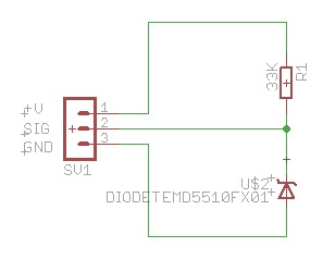 TEMD5510 Visible Light Sensor Schematic