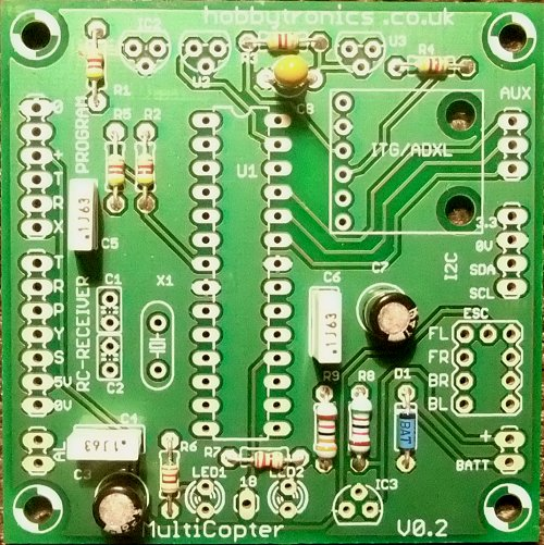 Multicopter Main Board with Capacitors