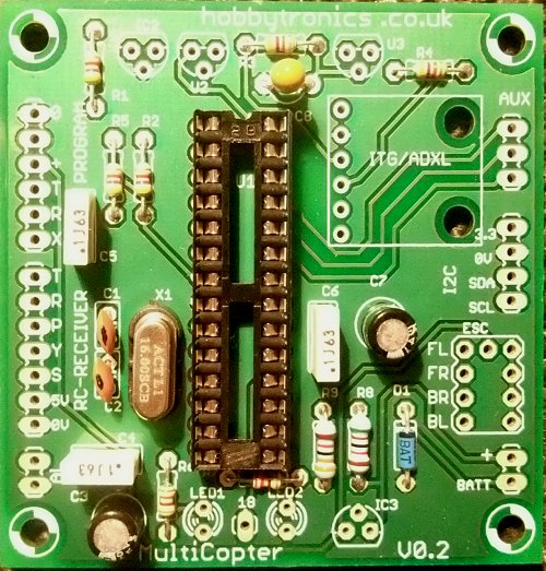 Multicopter Main Board with Processor Socket