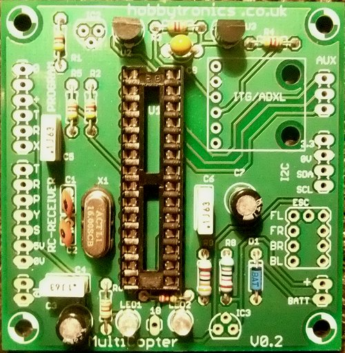 Multicopter Main Board with transistors